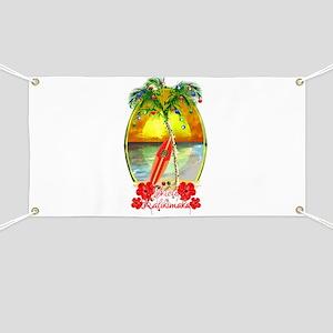 Mele Kalikimaka Surfboard Banner