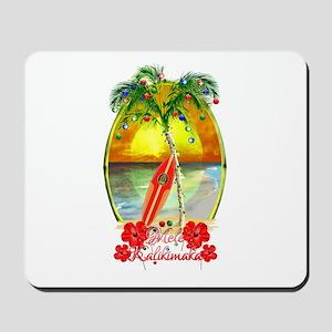 Mele Kalikimaka Surfboard Mousepad