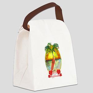 Mele Kalikimaka Surfboard Canvas Lunch Bag