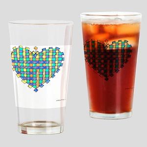 Woven Heart 10x10_all Drinking Glass