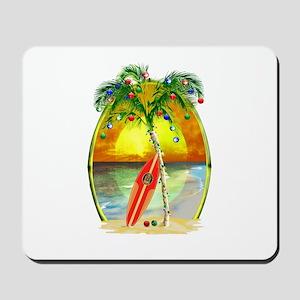 Christmas Beach Sunset Mousepad