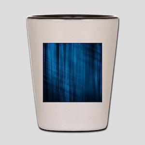 futuristic abstract blue geometric patt Shot Glass