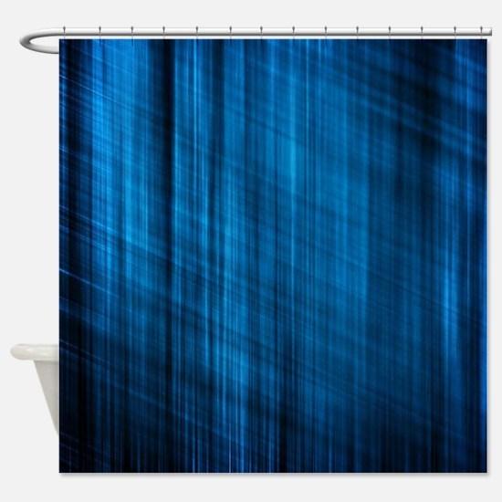 futuristic abstract blue geometric  Shower Curtain