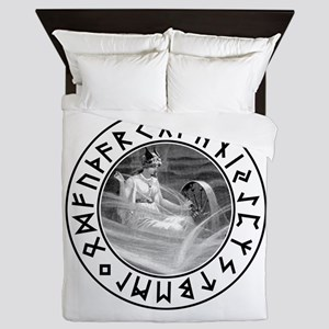 Frigg Rune Shield Queen Duvet