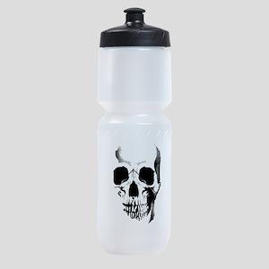skull-face_bl Sports Bottle
