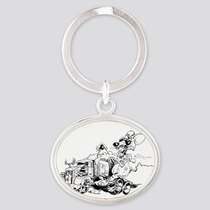 kenny the rat Oval Keychain