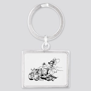 kenny the rat Landscape Keychain