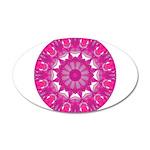 Rose Fire Wheel Mandala 35x21 Oval Wall Decal