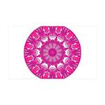Rose Fire Wheel Mandala 35x21 Wall Decal
