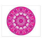 Rose Fire Wheel Mandala Small Poster