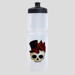skull-hat-red_shaded Sports Bottle
