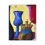 Bottlescape I - Ruby & Sky Blue Twin Duvet