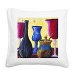 Bottlescape I Abstract Square Canvas Pillow