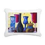 Bottlescape I Abstract Rectangular Canvas Pillow
