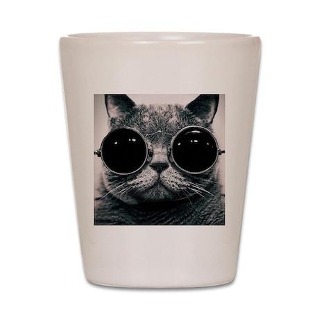 Cute cat  Shot Glass
