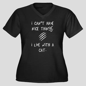 Funny Cat Quote Women's Plus Size V-Neck Dark T-Sh
