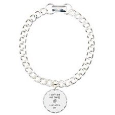 Funny Cat Quote Charm Bracelet, One Charm