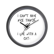 Funny Cat Quote Wall Clock