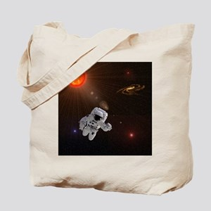 Astronaut And Sun With Stars Tote Bag