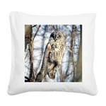 Great Gray Owl Square Canvas Pillow