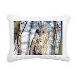Great Gray Owl Rectangular Canvas Pillow
