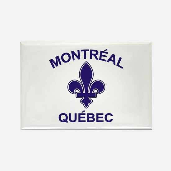 Montreal Quebec Rectangle Magnet