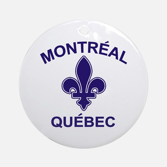 Montreal Quebec Ornament (Round)