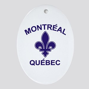 Montreal Quebec Oval Ornament