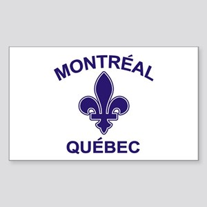 Montreal Quebec Rectangle Sticker