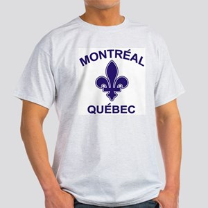 Montreal Quebec Ash Grey T-Shirt