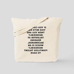Reading Backwards Useless Talent Tote Bag