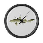 Lemon shark Large Wall Clock