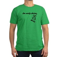 I'm Easily Distra...Bunny! Men's Fitted T-Shirt (d