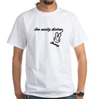 I'm Easily Distra...Bunny! White T-Shirt