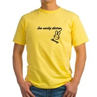 I'm Easily Distra...Bunny! Yellow T-Shirt