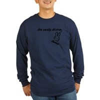 I'm Easily Distra...Bunny! Long Sleeve Dark T-Shir