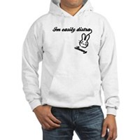 I'm Easily Distra...Bunny! Hooded Sweatshirt