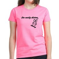 I'm Easily Distra...Bunny! Women's Dark T-Shirt