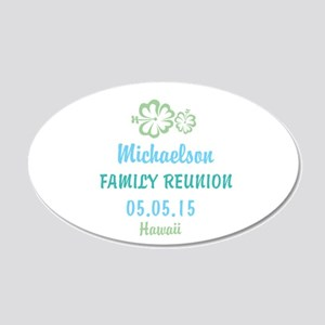 Your own name Family Reunion Hawaii Wall Sticker