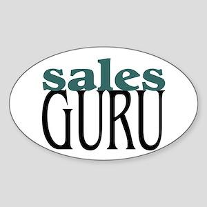 Sales Guru Oval Sticker