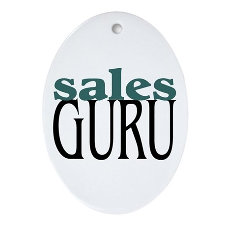Sales Guru Oval Ornament