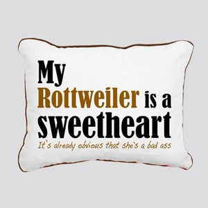 Shes A Sweetheart Rottie Rectangular Canvas Pillow