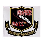 River Rats Throw Blanket