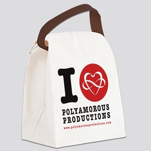 I HEART POLYAMOROUSART Canvas Lunch Bag