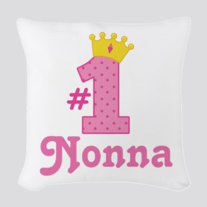 Nonna (Number One) Woven Throw Pillow