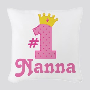 Nanna (Number One) Woven Throw Pillow