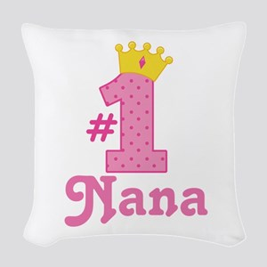 Nana (Number One) Woven Throw Pillow