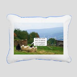 Dropped Stitch Sheep Rectangular Canvas Pillow