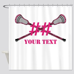Lacrosse Pink Camo Sticks Crossed Personalize Show