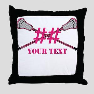 Lacrosse Pink Camo Sticks Crossed Personalize Thro